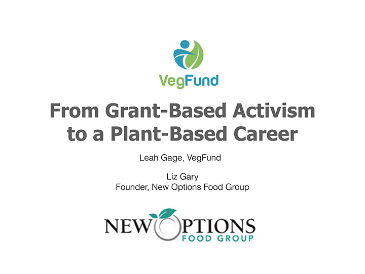VegFund Activist Training - Outreach & Plant-Based Careers